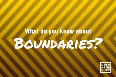 What do you know about boundaries?